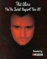 PHIL COLLINS 1985 NO JACKET REQUIRED TOUR CONCERT PROGRAM BOOK-GENESIS-EX 2 NMT
