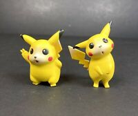 Pokemon Vintage Tomy Mini Pikachu Figures 90s Collectable Yellow Character