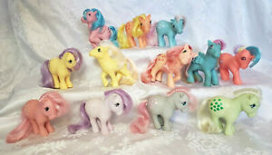 My Little Pony g1 lot of 12 ~ Twinkle-eyed ~ Minty ~ Lemondrop ~ Sweet Pop