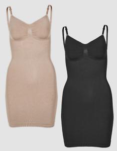 NEW Vercella Vita Slip Dress - Choice of Size BLACK OR NUDE