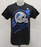 Detroit Lions Men's M, L, XL, 2XL Stripe-Style Graphic T-Shirt NFL Black A14TRB