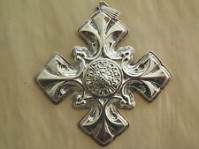 1976 REED & BARTON  STERLING SILVER CHRISTMAS CROSS ORNAMENT