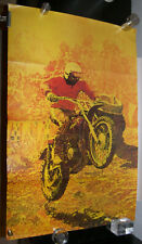 Original 1970s Dirt Bike Motocross Scholastic Magazines Poster Montesa Pg-495