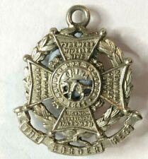 Boer War Border regiment Sweetheart Pendant Made From 1895-1905 Collar Badge
