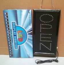 "LED OPEN Sign-Vertical Red,  19"" x 10"" x 3/4"", AC 110V"