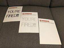 FAX Retour vers le Futur 2 3 YOU'RE FIRED!!! CUSCO BTTF hoverboard Delorean Viré