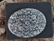 Night Sky Round Trophy Belt Buckle-Bling   FREE SHIPPING!