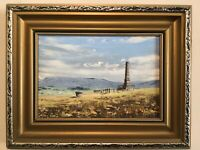 Vintage Gilt Framed original Signed oil painting Werneth Low