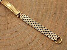Vintage Ladies Kreisler Yellow gold filled beads of rice watch band bracelet