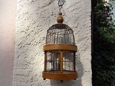 Jugendstil Vogelkäfig Holz Draht Wellensittich Ø Kanarien birdcage Vogelbauer