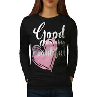 Wellcoda Cute Love Womens Long Sleeve T-shirt, Couples Casual Design