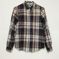 The North Face Womens Flannel Plaid Shirt Size Small Long Sleeve Button Up Down