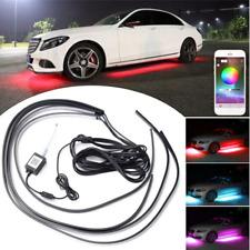 4x RGB LED Umgebungsbeleuchtung Bluetooth App Auto Kfz 12V Universal 90+120cm