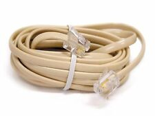 25 FT Feet RJ11 Modular Telephone Extension Phone Cord Cable Line Wire IVORY/TAN