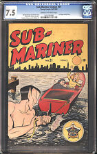 Sub-Mariner #21 CGC 7.5 VF- Marvel Last Angel Story CREAM to OFF-WHITE Pages