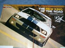 """2007 Ford Shelby GT500 Mustang Road Test Info Article """"New King of the Road"""""""