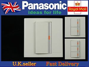 Panasonic Marco Series light wall switch1/2/3 Gang 1 Way with LED Screwless