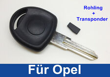 Key Blank Housing with Transponder for OPEL ASTRA VECTRA OMEGA CORSA