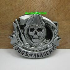 1 x mens ladies belt buckle quality metal alloy jeans sons of anarchy biker new