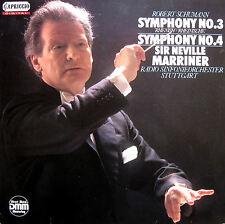 Capriccio C 27 106 Schumann Symphony 3 & 4 Sir Neville Marriner 1986 NM/EX