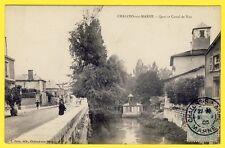 cpa de 1905 - 51 CHALONS sur MARNE QUAI et CANAL de NAU Animée BAINS DOUCHES