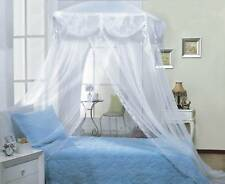 WHITE TRI-LACE PRINCESS four corner BED CANOPY MOSQUITO FREE SHIPPING FROM USA