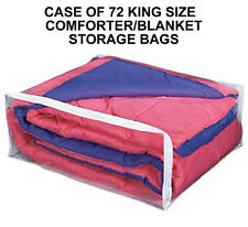 CASE OF 72 KING SIZE COMFORTER SUPREME STORAGE BAGS   BIG BLANKET OR KING SIZE