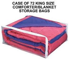 Case of 72 King Size Comforter Supreme Storage Bags Big Blanket or King Size