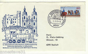 A LOVELY ILLUSTRATED COVER FROM GERMANY 1979 100 YEARS OF ELECTRIC RAILWAY