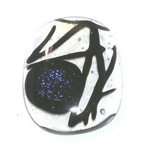 Dichroic Glass Cab Dk 563 /Cabochon For Jewelry Making Handcrafted