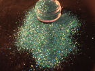 Exclusive Bizzy Nails Cosmetic Grade 0.4mm Fine Holographic Bling Green Mermaid