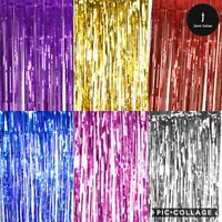 2.5M Foil Fringe Tinsel Shimmer Curtain Door Wedding Birthday Party DECORATIONS