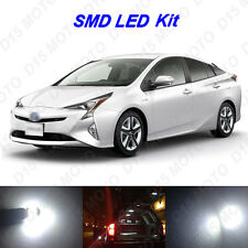 8x Ultra White LED Interior Lights Bulbs Package Kit for 2016 2017 Toyota Prius