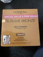 L'oreal Paris Sublime Bronze Self Tanning Towelettes Set 2pk Medium Streak Free