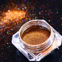 0.2g Holographic Chameleon Nail Art Powder Mirror Laser Chrome Pigment LG-12 DIY