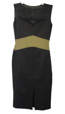 AMY CHILDS Womens Black & Gold Sleeveless Bodycon Dress Ladies XS 8 BNWT