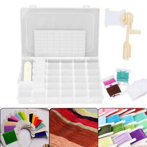 Embroidery Floss Cross Stitch Organizer Storage Box Set 100 Thread Bobbins Hot