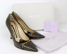 JIMMY CHOO Studded Leather Heels UK4.5 /EU37.5 New Auth Great Gift PUMPS