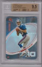 ELI MANNING 2004 E-X EX ROOKIE DIE CUT RC #41 MISSING SERIAL NMBR GRADED BGS 9.5