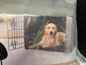 """Yotache Dog Crate Cover for 42"""" Large Double Door Wire Dog Cage Gray"""