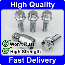 CHROME ALLOY WHEEL LOCKING BOLTS FOR BMW X5 E70 (2007+) SECURITY LUG NUTS [6F]