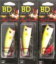 (3) Castaic Boyd Duckett Series BD Popper 70 BDP70 Pearl Ayu 1/2 Oz. Brand New