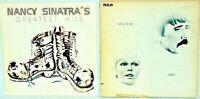 "2 x 12"" Vinyl Records Nancy Sinatra's Greatest Hits + Nancy & Lee, Again 1972"