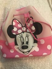 Minnie Mouse Drawstring Mini Backpack 9.5 Inch Pink White