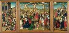 Letrero De Metal Master de Delft Tríptico escenas de la Pasión de Cristo A4 12x8 al