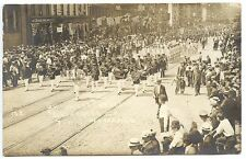 Rochester NY Store Fronts Talking Machine Co. Parade 1911 Real Photo Postcard