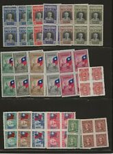 China Collection of Blocks of 4, 1945 to 1949,  Mint NH