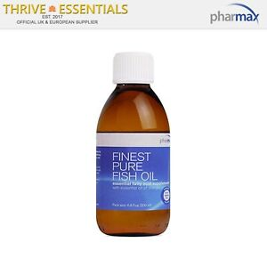 Pharmax Finest Pure Fish Oil 200ml with Orange flavour - Natural Triglyceride