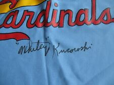 RARE Whitey Kurowski dec.99 PSA/DNA 1942-44-46 St. Louis Cardinals Signed Jersey