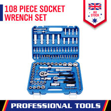 "108Pc Socket Ratchet Wrench Set 1/2 1/4"" External Torx Screwdriver Bit Extension"
